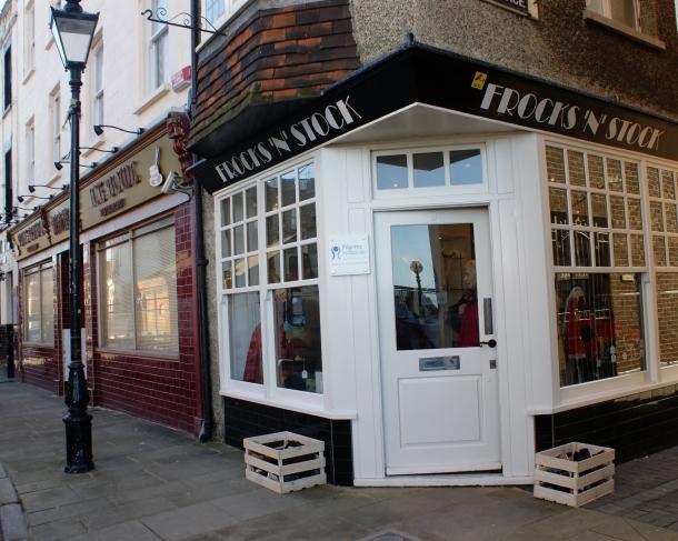 Pilgrim's Hospice Frocks n Stock Shop. Market Street Margate